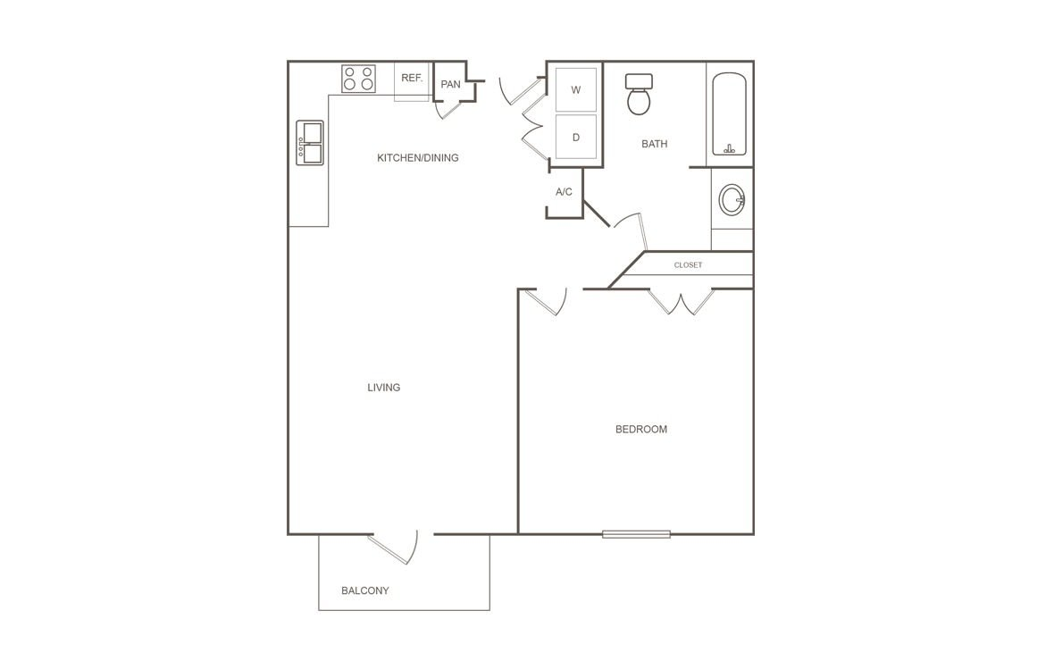 1 Bedroom 1 Bathroom Apartment for rent at Pepper Tree Manor in Houston, TX