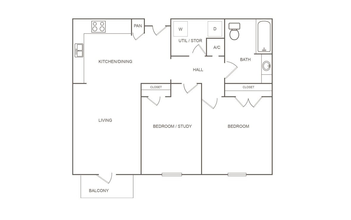 2 Bedrooms 1 Bathroom Apartment for rent at Pepper Tree Manor in Houston, TX