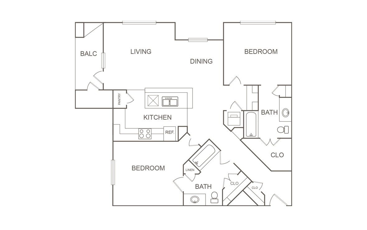 2 Bedrooms 2 Bathrooms Apartment for rent at Orchard At Garden Oaks in Houston, TX