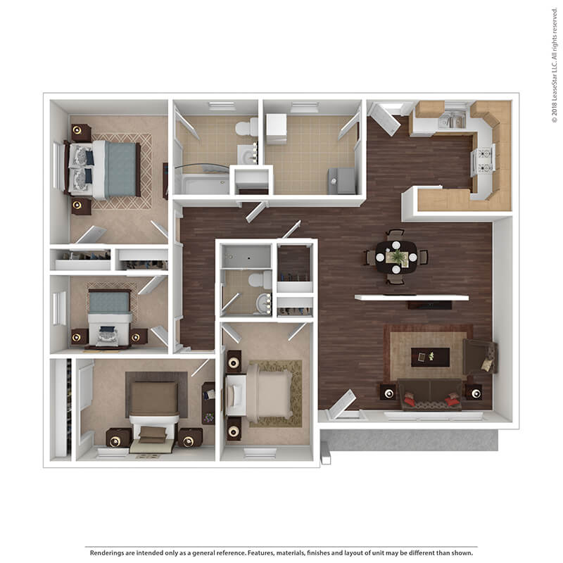 4 Bedrooms 2 Bathrooms Apartment for rent at The Villages At Belvoir - Military Housing in Fort Belvoir, VA