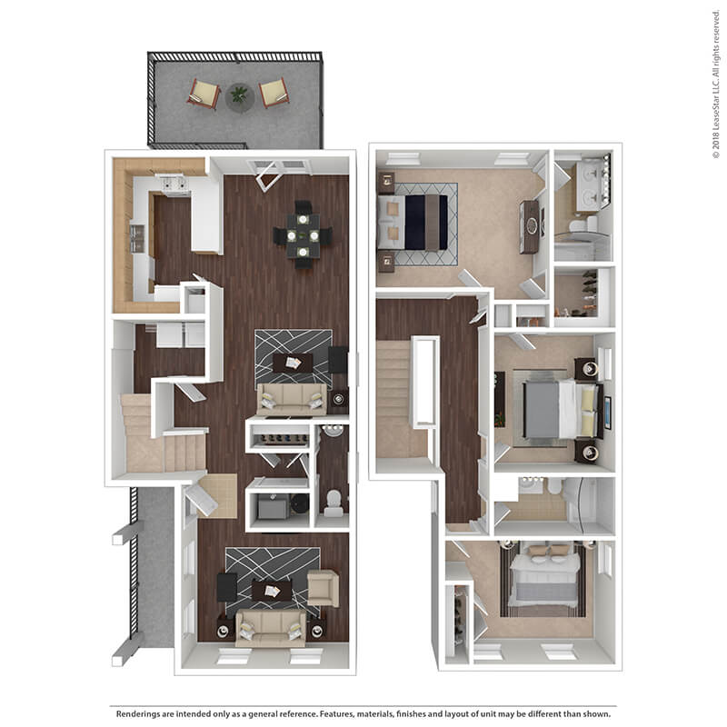 3 Bedrooms 3 Bathrooms Apartment for rent at The Villages At Belvoir - Military Housing in Fort Belvoir, VA