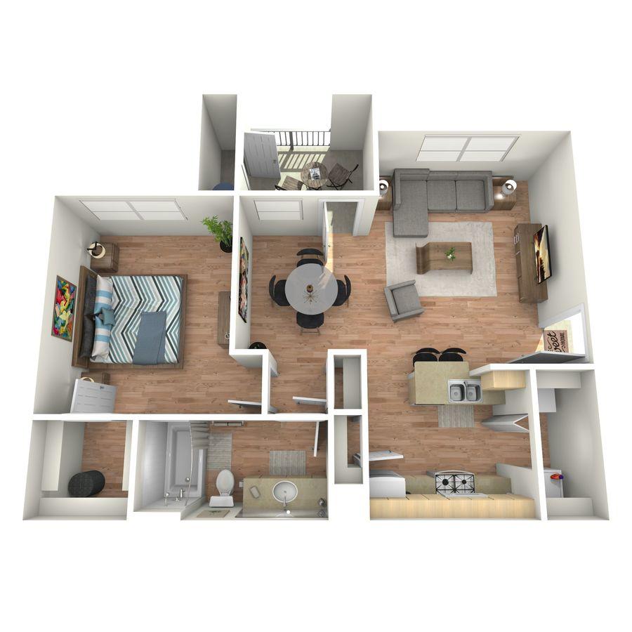 1 Bedroom 1 Bathroom Apartment for rent at Cypress Creek At Lakeline Boulevard in Cedar Park, TX