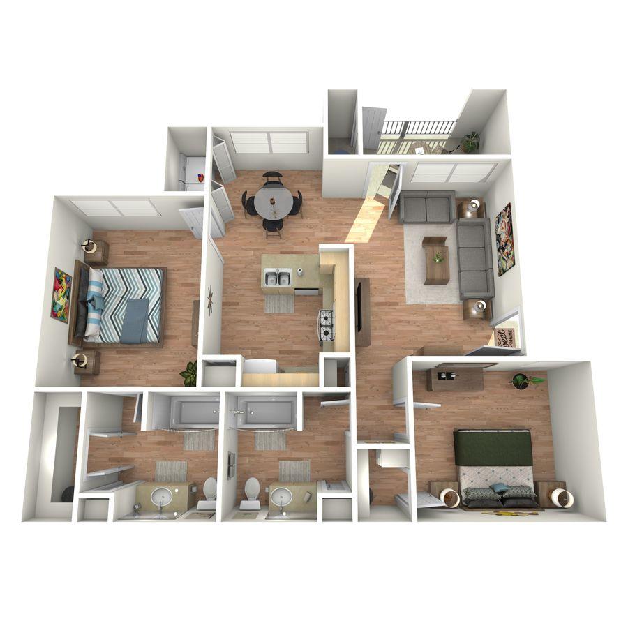2 Bedrooms 2 Bathrooms Apartment for rent at Cypress Creek At Lakeline Boulevard in Cedar Park, TX