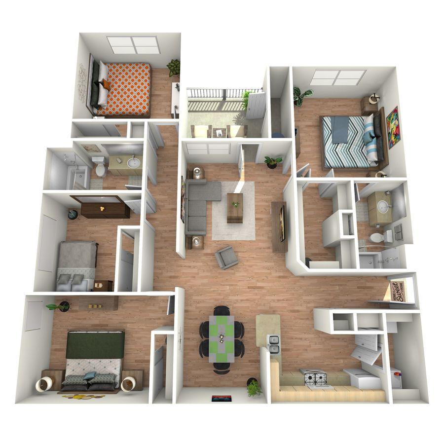 4 Bedrooms 2 Bathrooms Apartment for rent at Cypress Creek At Lakeline Boulevard in Cedar Park, TX