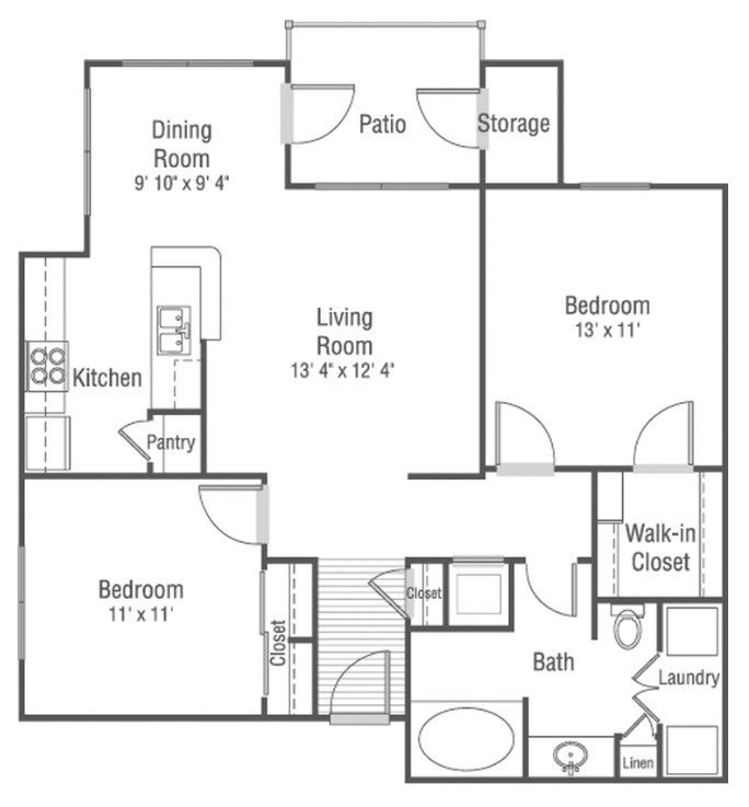 2 Bedrooms 1 Bathroom Apartment for rent at Castle Creek in Indianapolis, IN