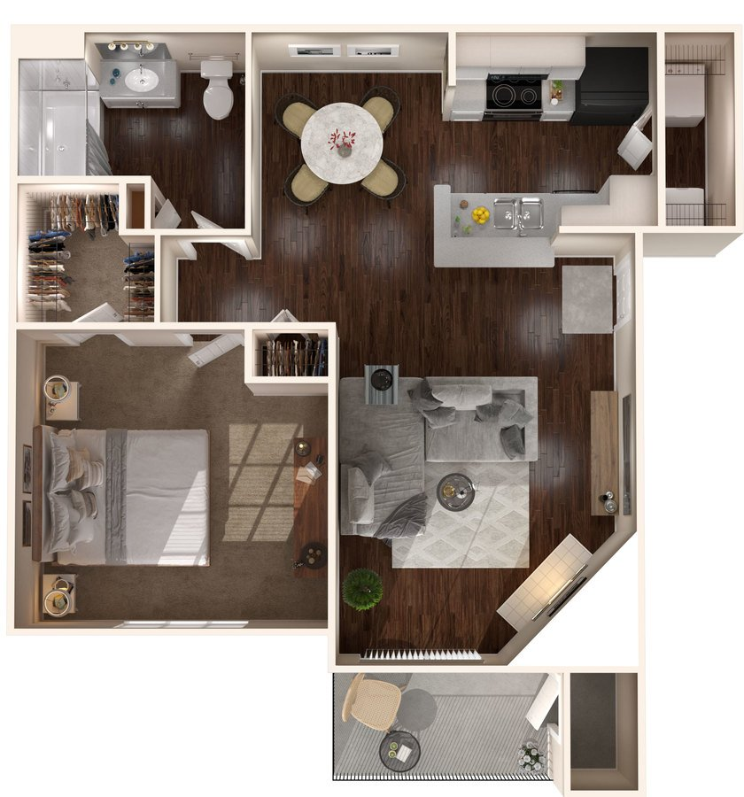 1 Bedroom 1 Bathroom Apartment for rent at The Lakes Apartments in Indianapolis, IN