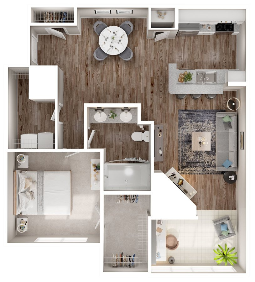 1 Bedroom 1 Bathroom Apartment for rent at Lake Clearwater Apartments in Indianapolis, IN