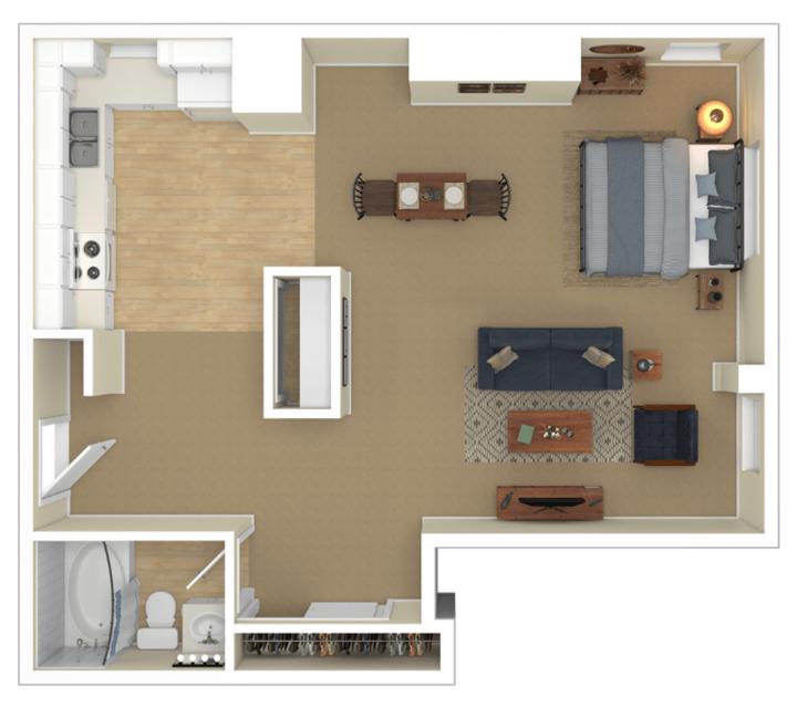Studio 1 Bathroom Apartment for rent at Laurel Village in Minneapolis, MN