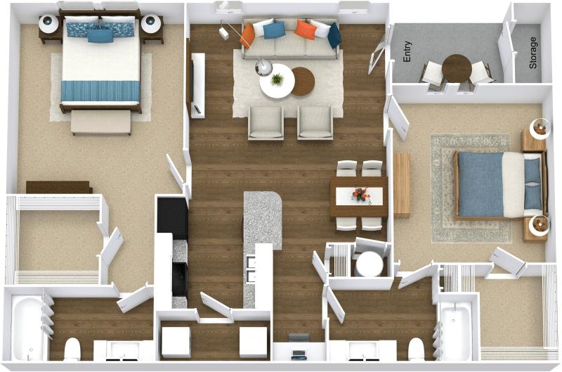 2 Bedrooms 2 Bathrooms Apartment for rent at Mandalay Villas in Mcdonough, GA