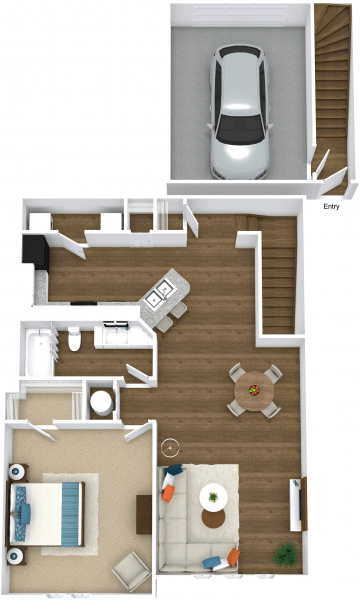 1 Bedroom 1 Bathroom Apartment for rent at Mandalay Villas in Mcdonough, GA