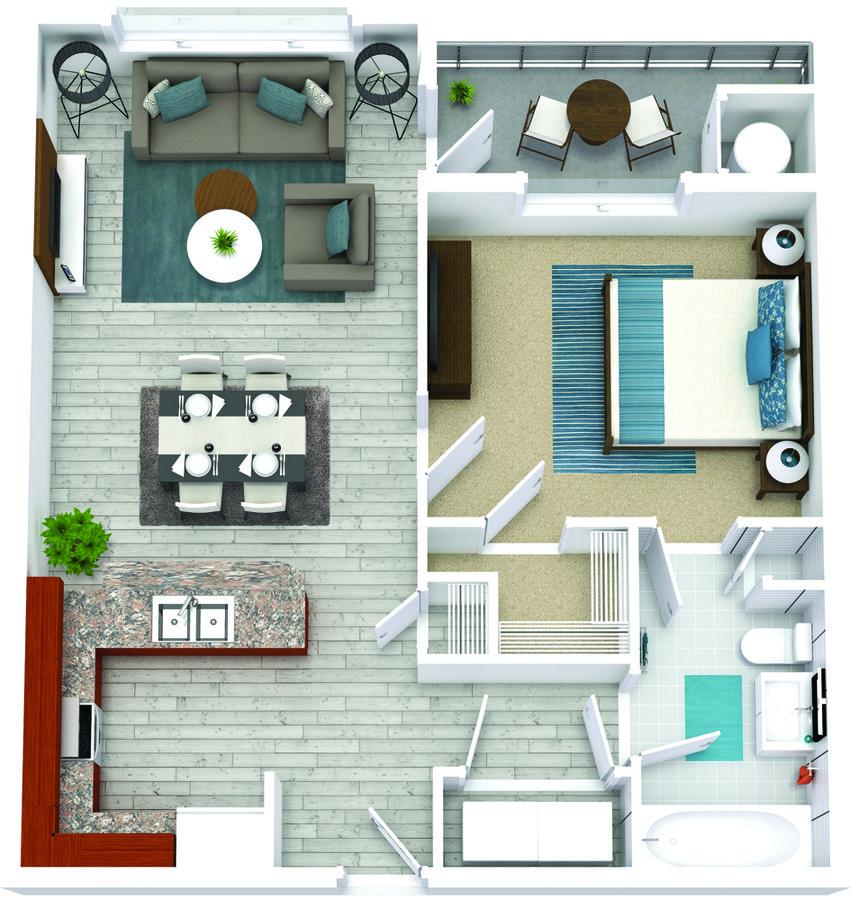 1 Bedroom 1 Bathroom Apartment for rent at Bricks Perimeter Center in Dunwoody, GA