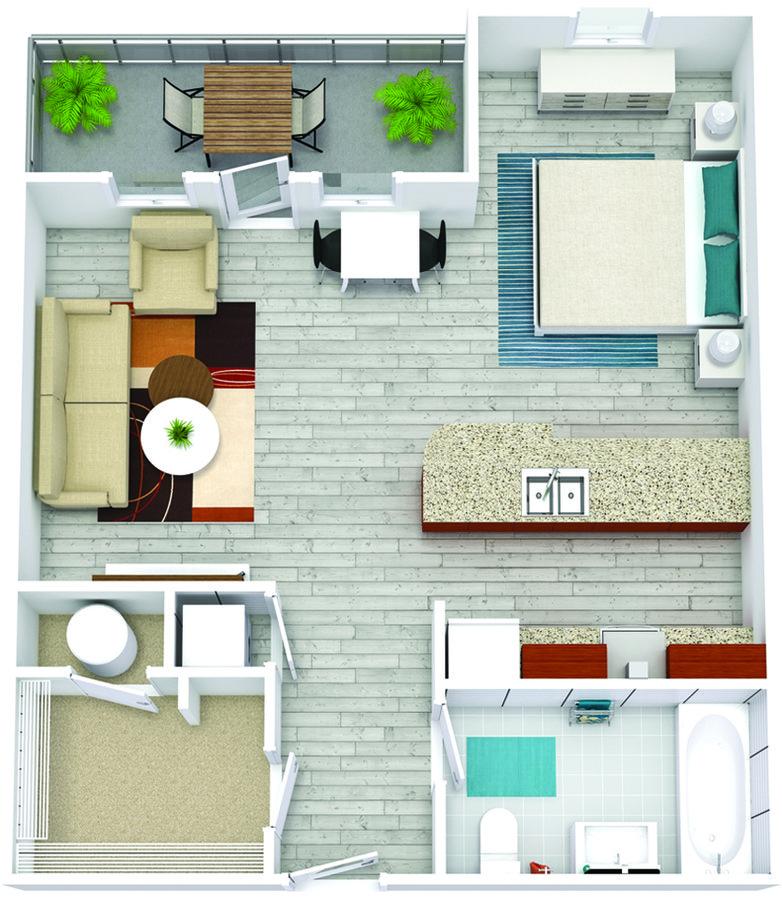 Studio 1 Bathroom Apartment for rent at Bricks Perimeter Center in Dunwoody, GA