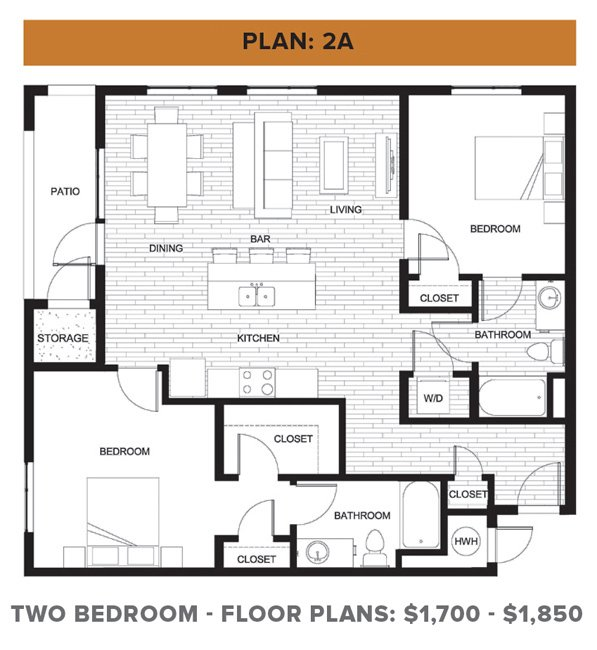 2 Bedrooms 2 Bathrooms Apartment for rent at Rmwest in Kansas City, MO