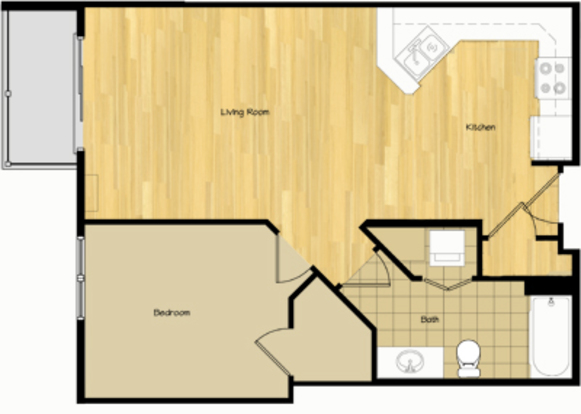1 Bedroom 1 Bathroom Apartment for rent at 320 S Baldwin St in Madison, WI