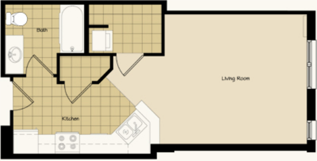 Studio 1 Bathroom Apartment for rent at 320 S Baldwin St in Madison, WI