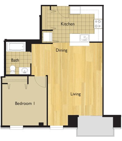 1 Bedroom 1 Bathroom Apartment for rent at 22 E Dayton St in Madison, WI
