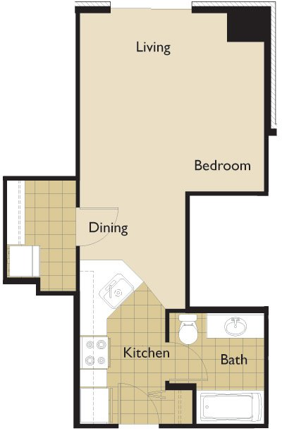 Studio 1 Bathroom Apartment for rent at 22 E Dayton St in Madison, WI