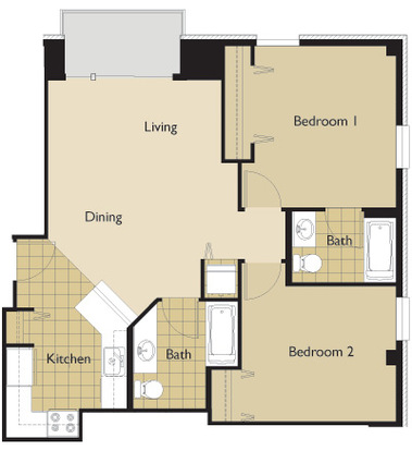 2 Bedrooms 2 Bathrooms Apartment for rent at 22 Dayton St in Madison, WI