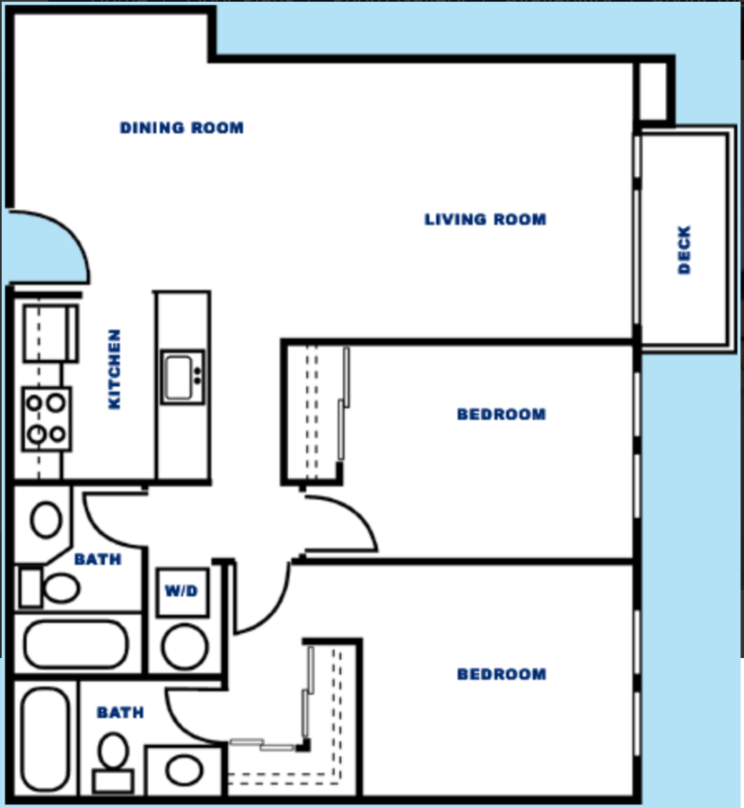 2 Bedrooms 2 Bathrooms Apartment for rent at City Watch Apartments in Seattle, WA