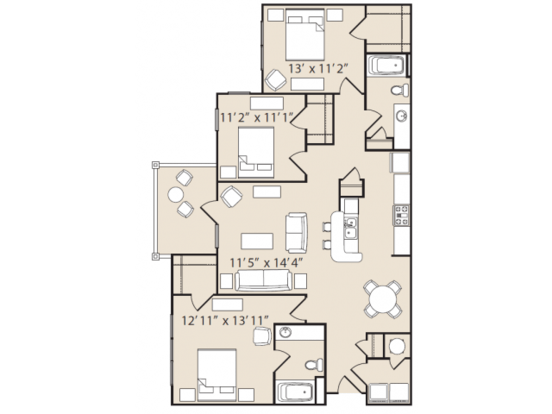 3 Bedrooms 2 Bathrooms Apartment for rent at Ashby At Ross Bridge in Hoover, AL