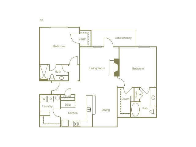 2 Bedrooms 2 Bathrooms Apartment for rent at The Preserve At Southwind in Memphis, TN