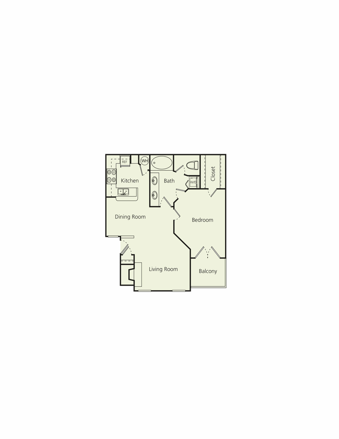 1 Bedroom 1 Bathroom Apartment for rent at The Carlton in Houston, TX
