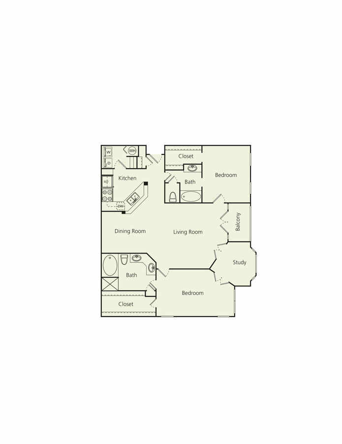 2 Bedrooms 2 Bathrooms Apartment for rent at The Carlton in Houston, TX
