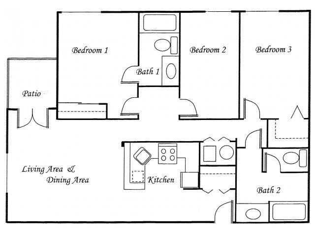 3 Bedrooms 2 Bathrooms Apartment for rent at Views At Madison Apartment Homes in Seattle, WA