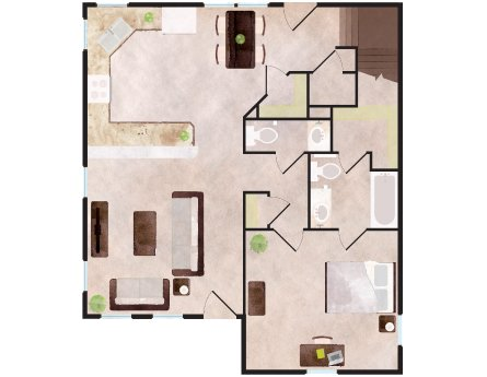 4 Bedrooms 4+ Bathrooms Apartment for rent at Aspen Heights Stillwater in Stillwater, OK