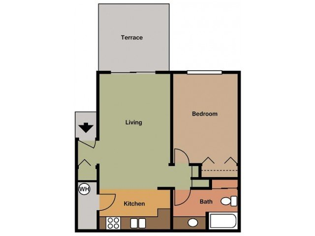1 Bedroom 1 Bathroom Apartment for rent at Town Park Villas 55+ Active Community in San Diego, CA