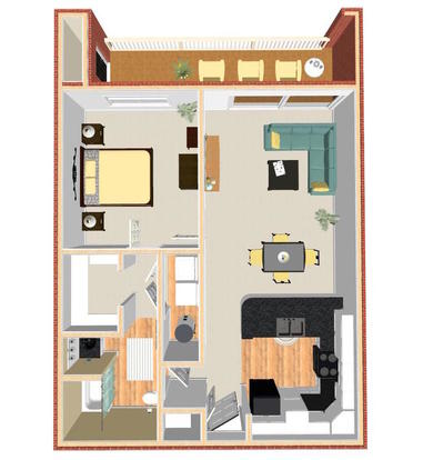 1 Bedroom 1 Bathroom Apartment for rent at Pavilion Crossings in Charlotte, NC