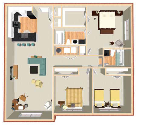 3 Bedrooms 2 Bathrooms Apartment for rent at Pavilion Crossings in Charlotte, NC