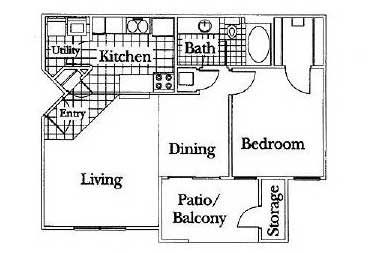 1 Bedroom 1 Bathroom Apartment for rent at Barclay Club in Kansas City, MO