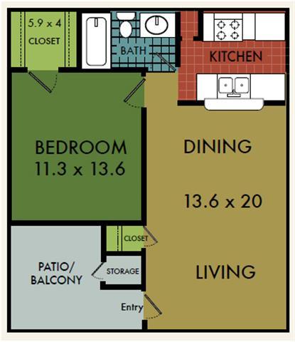 1 Bedroom 1 Bathroom Apartment for rent at City Summit in San Antonio, TX