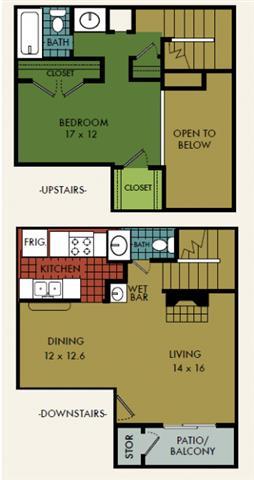 1 Bedroom 2 Bathrooms Apartment for rent at City Summit in San Antonio, TX