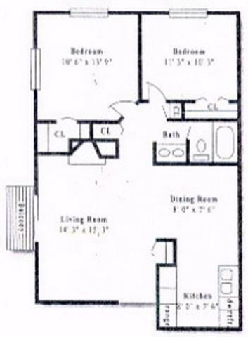 2 Bedrooms 1 Bathroom Apartment for rent at Pembrooke On The Green in Denver, CO