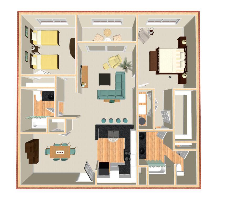 2 Bedrooms 2 Bathrooms Apartment for rent at Pavilion Crossings in Charlotte, NC