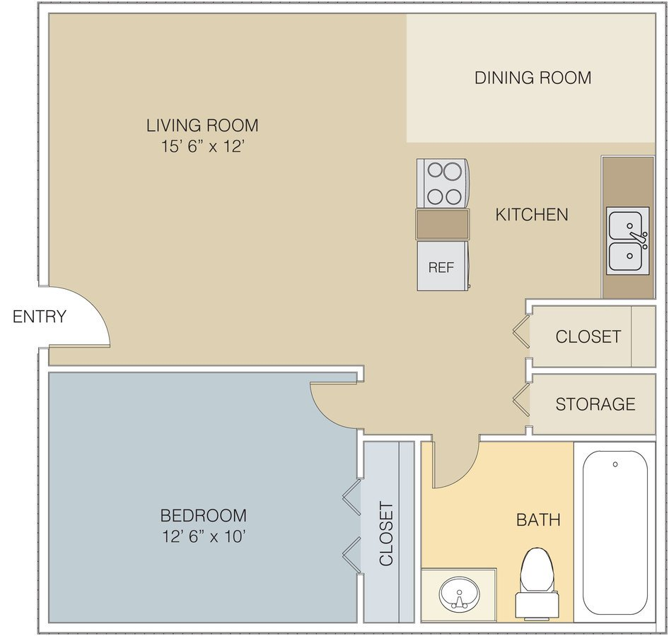 1 Bedroom 1 Bathroom Apartment for rent at Villages At Gateway in Denver, CO