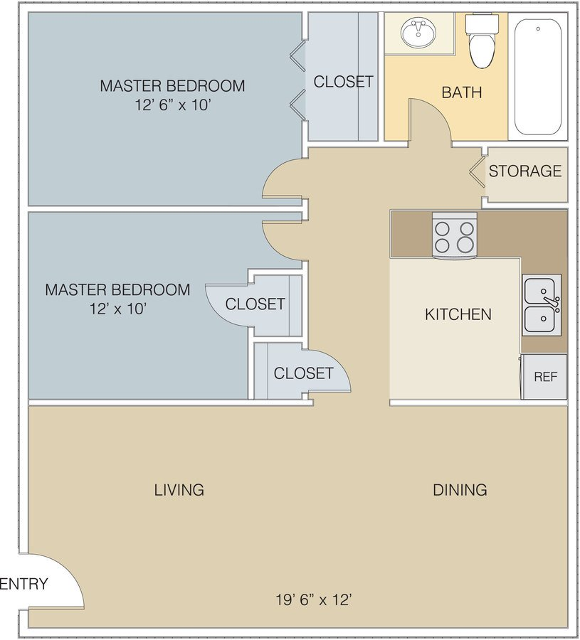 2 Bedrooms 1 Bathroom Apartment for rent at Villages At Gateway in Denver, CO