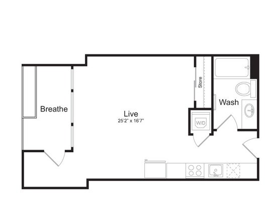 Studio 1 Bathroom Apartment for rent at Mark On 8th in Seattle, WA