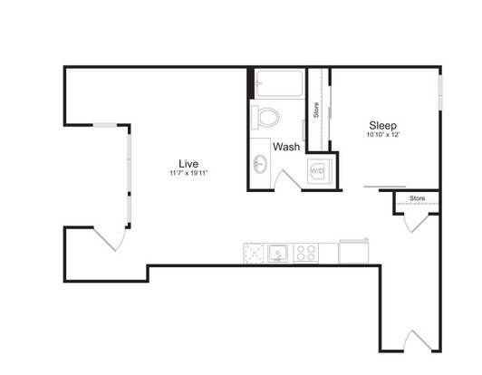 1 Bedroom 1 Bathroom Apartment for rent at Mark On 8th in Seattle, WA