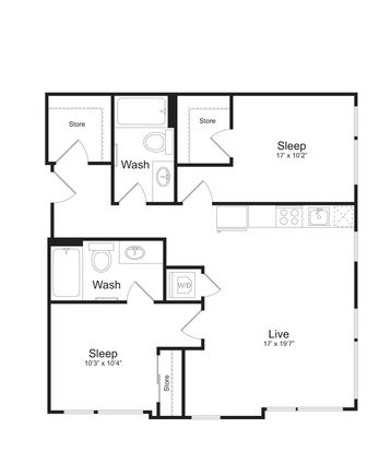 2 Bedrooms 2 Bathrooms Apartment for rent at Mark On 8th in Seattle, WA