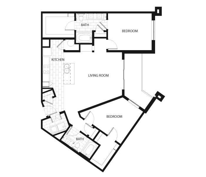 2 Bedrooms 2 Bathrooms Apartment for rent at Latitude At Deerfield Crossing in Mason, OH