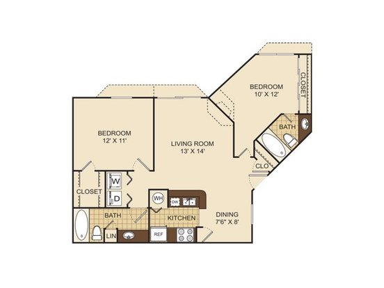 2 Bedrooms 2 Bathrooms Apartment for rent at Arbor Village in Charlotte, NC