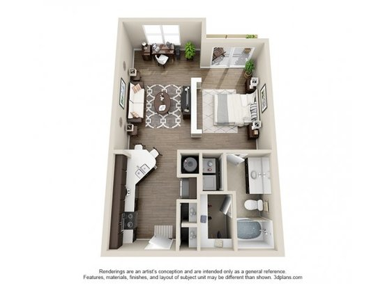 Studio 1 Bathroom Apartment for rent at Elizabeth Square in Charlotte, NC
