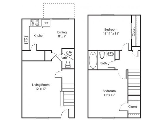 2 Bedrooms 1 Bathroom Apartment for rent at Hampton Creste in Charlotte, NC