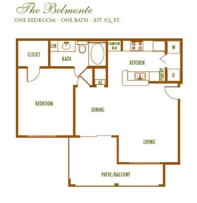 1 Bedroom 1 Bathroom Apartment for rent at The Reserve Apartments in Charlotte, NC