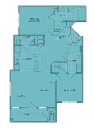 2 Bedrooms 2 Bathrooms Apartment for rent at University Center in Charlotte, NC