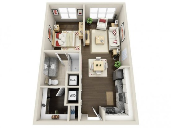 Studio 1 Bathroom Apartment for rent at Yards in Charlotte, NC