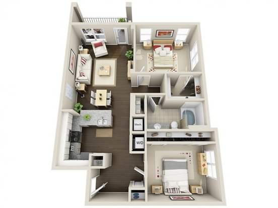 2 Bedrooms 1 Bathroom Apartment for rent at Yards in Charlotte, NC